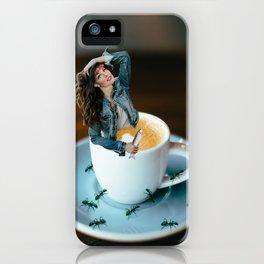 Wait, lemme take a selfie iPhone Case