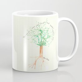 Organic Watercolor Tree with Einstein Quote Coffee Mug