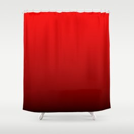 Red Devil Hell and Black Deadly Ombre Nightshade Shower Curtain