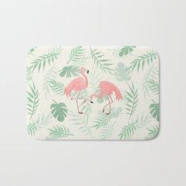 Flamingo Love Tropical Bath Mat