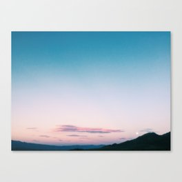 Moonrise - Death Valley Canvas Print