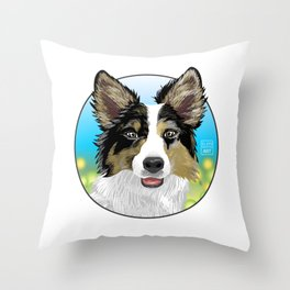Dog Design: Digital Drawing Throw Pillow