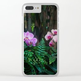 Orchid Leafy Orchid Clear iPhone Case