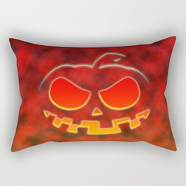 Scarry Halloween Pumpkin Rectangular Pillow
