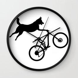 funny MTB mountain bike cycling dog lover gift Wall Clock