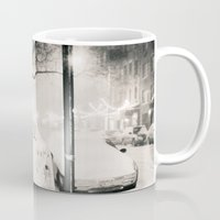 new york city Mugs featuring New York City by Vivienne Gucwa