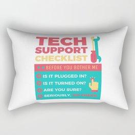 Tech Support Checklist - Computer Helpdesk Admin Rectangular Pillow