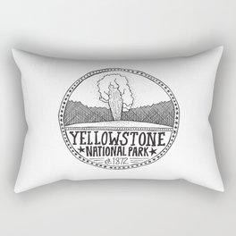 Yellowstone - Old Faithful Illustration Rectangular Pillow