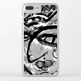 Wiggle Snickle Doodley Doo 1a by Kathy Morton Stanion Clear iPhone Case