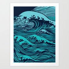 Storming sea Art Print