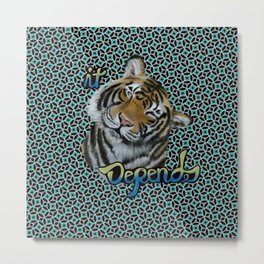 Tiger on pattern Metal Print