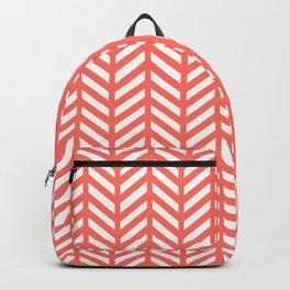 Herringbone - Living Coral Backpack
