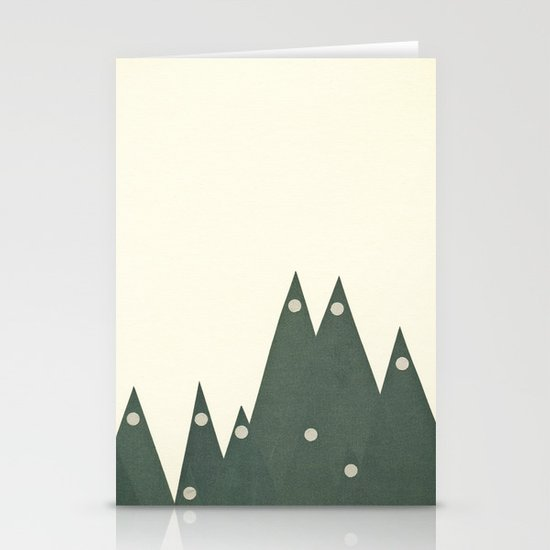 Moonlit Peaks Stationery Cards