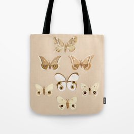 pale moths Tote Bag