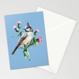 Botanical Tit Bird Stationery Cards