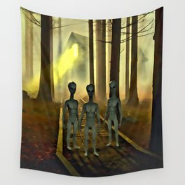 They Come in Peace Wall Tapestry