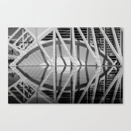 City of Arts and Sciences II by CALATRAVA architect Canvas Print