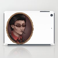 crowley iPad Cases featuring Crowley (white) by Abbi Laura