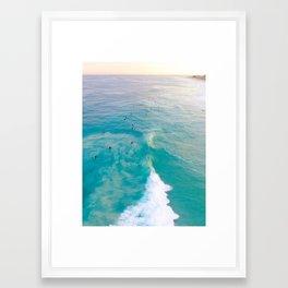 Sunrise Surfers Framed Art Print