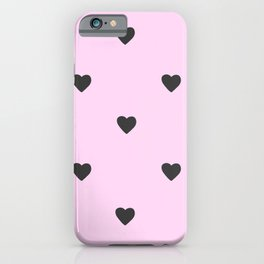 Pink Pastel Hearts iPhone Case