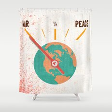 Low On Peace Shower Curtain