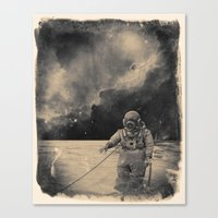 uncharted Canvas Prints featuring Uncharted Waters by Dylan Murphy