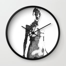 A Little Bit More Me Everyday (Sketchy Reputation / Jeff Gross) Wall Clock