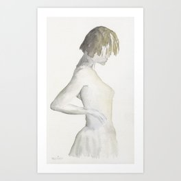 Sensual young woman Art Print