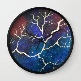 Cosmic Lightning Wall Clock