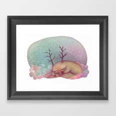 Deep Winter Dreaming (With Eyes Closed) Framed Art Print