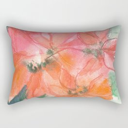 Fiery and Emerald Flowers Rectangular Pillow