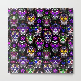 Candy Skulls Metal Print