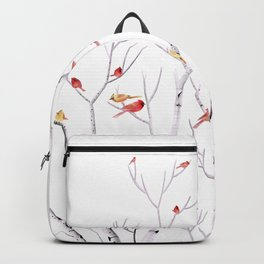 Birch Trees and Cardinal 2  Backpack