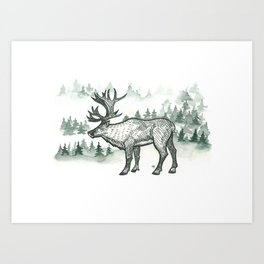 All I want for Christmas is carib-you Art Print