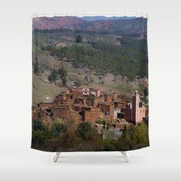 Village Among Hills Shower Curtain