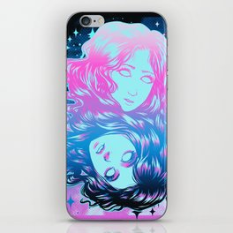 Two Faces - Color iPhone Skin