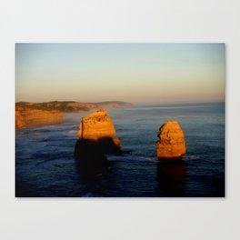 Glowing Rock Stacks Canvas Print