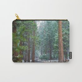 Yosemite Snow Covered Pine Trees Carry-All Pouch