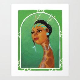 Dama Giraffe  Art Print