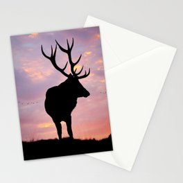 Stag And Sunset Stationery Cards