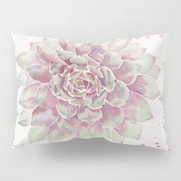 Big Succulent Watercolor Pillow Sham