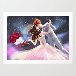 Let's get marry in the space station Art Print