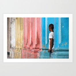 Colors of Havana, Cuba Art Print