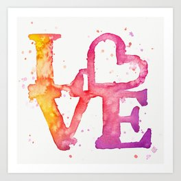 A bit of LOVE Art Print