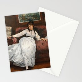 The Rest, portrait of Berthe Morisot by Edouard Manet Stationery Cards
