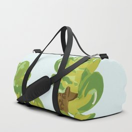 Portylacaria Afra Succulent Blue and Green Duffle Bag