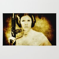 leia Area & Throw Rugs featuring Vintage Leia by Freak Shop | Freak Products