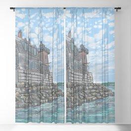 Breakwater Lighthouse Sheer Curtain
