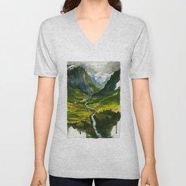 The Hidden Valley (original) Unisex V-Neck