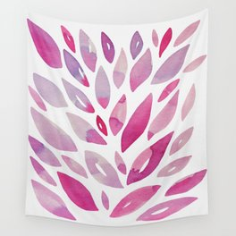 Watercolor floral petals - pink and purple Wall Tapestry